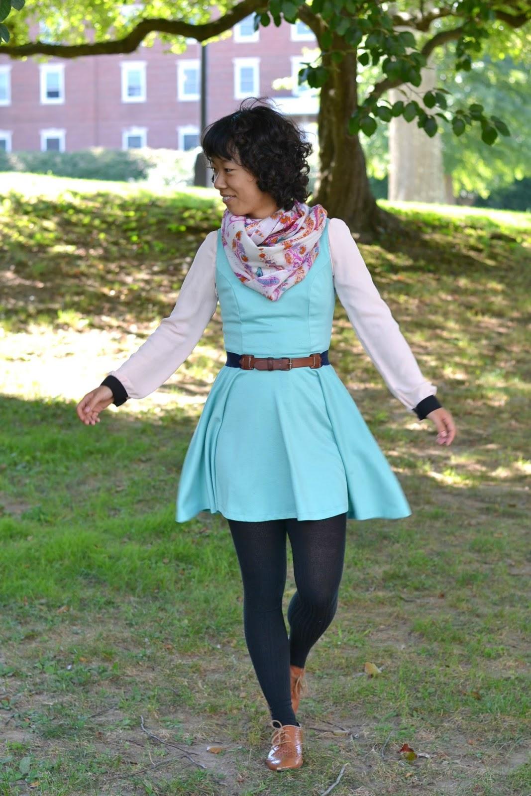 mint skater dress outfit