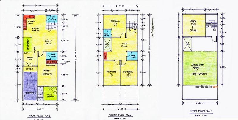 Ide untuk Denah Rumah Sedang Type 50 Minimalis Sederhana yang cantik