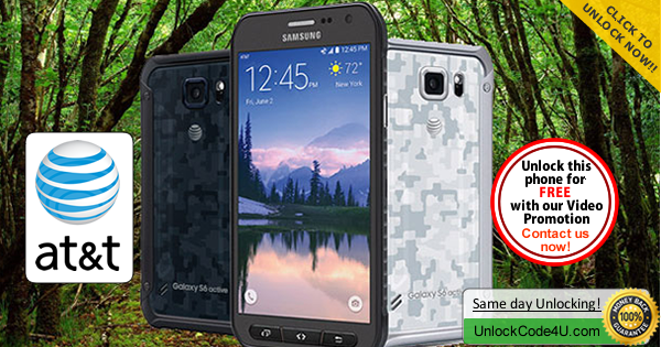 Factory Unlock Code for Samsung Galaxy S6 Active from At&T
