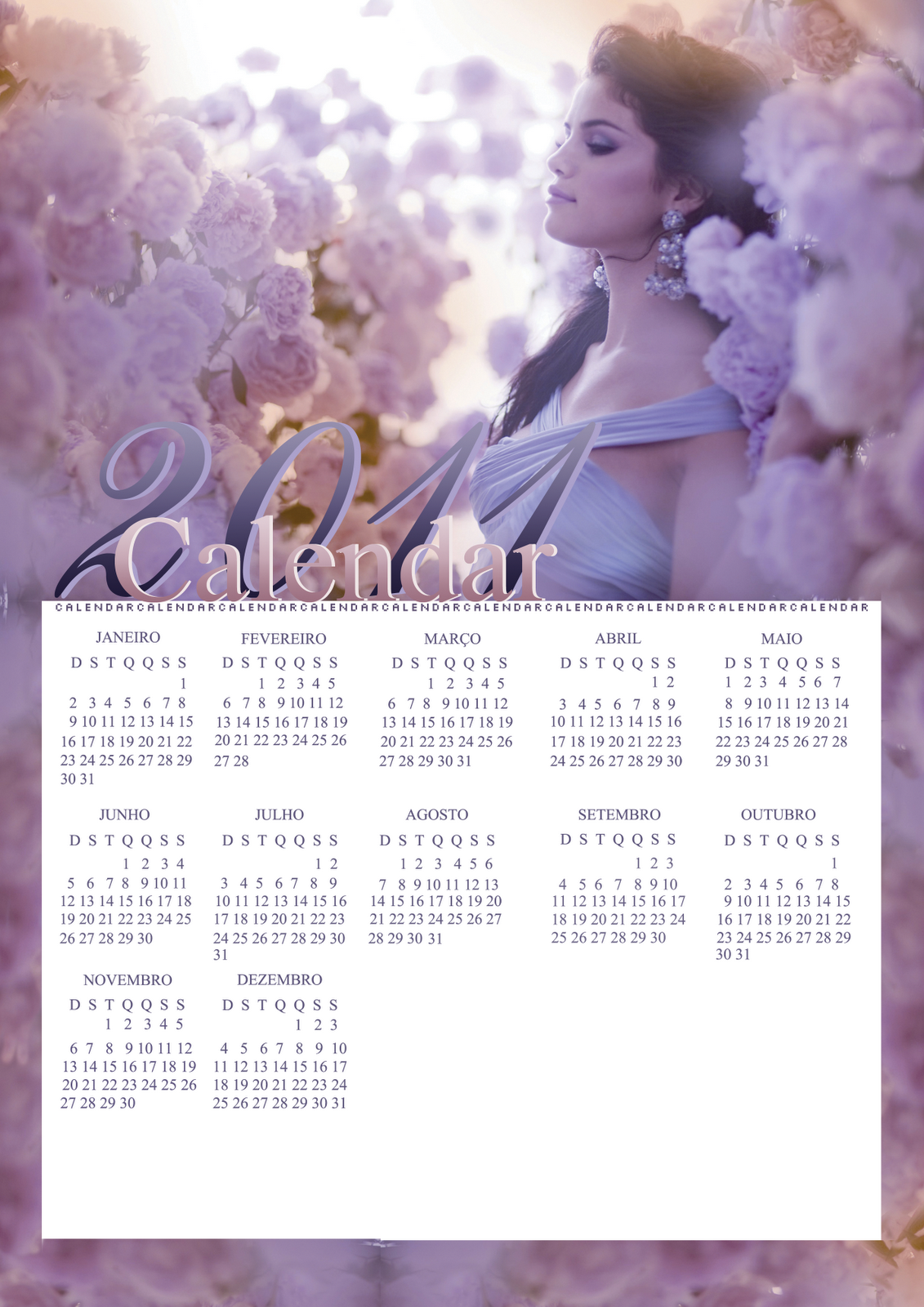 TeamSelena Chile: Calendario 2011 del Team