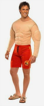 Baywatch Muscle Chest Costume for Men