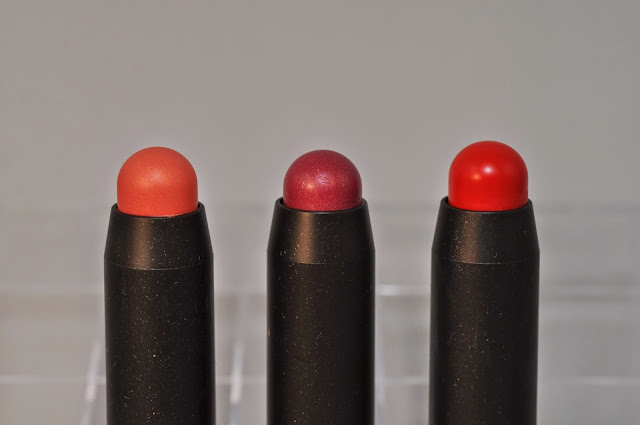 MAC Patent Polish Lip Pencils in Revved Up, Spontaneous and Berry Bold