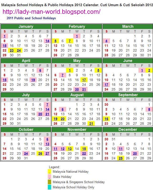 温馨~: MALAYSIA PUBLIC HOLIDAYS 2012 Calendar.