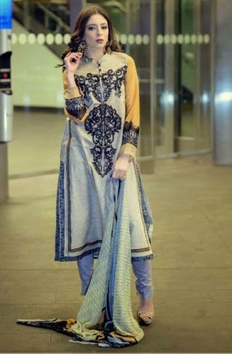 Ittehad Textiles Cleopatra Embroidered Lawn Collection 2015