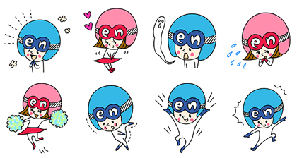 En-kun and En-chan stickers