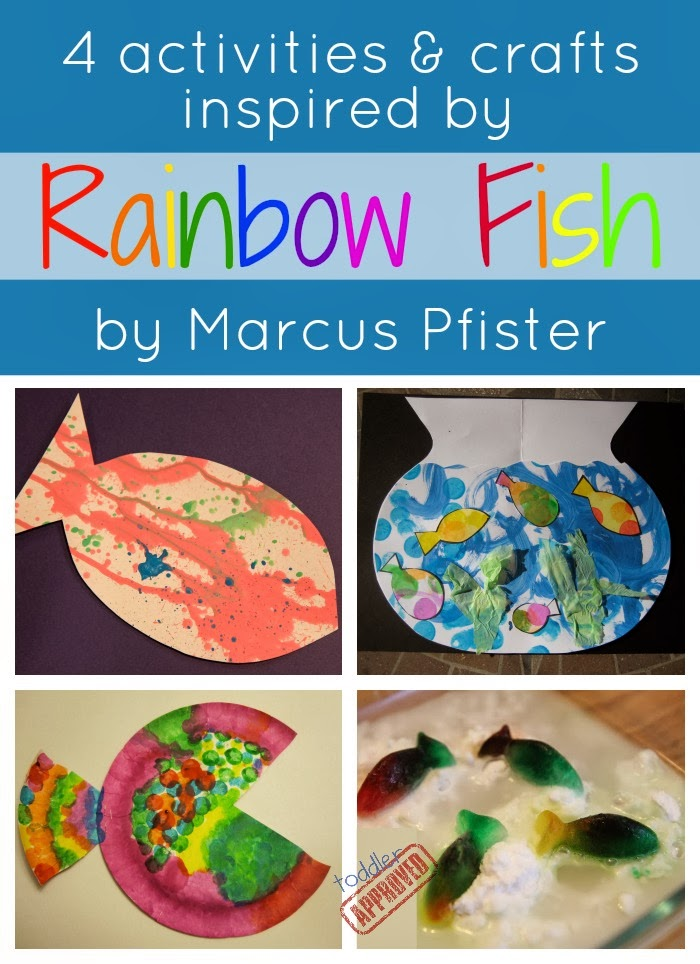 Toddler approved rainbow fish crafts and activities for Rainbow fish activities