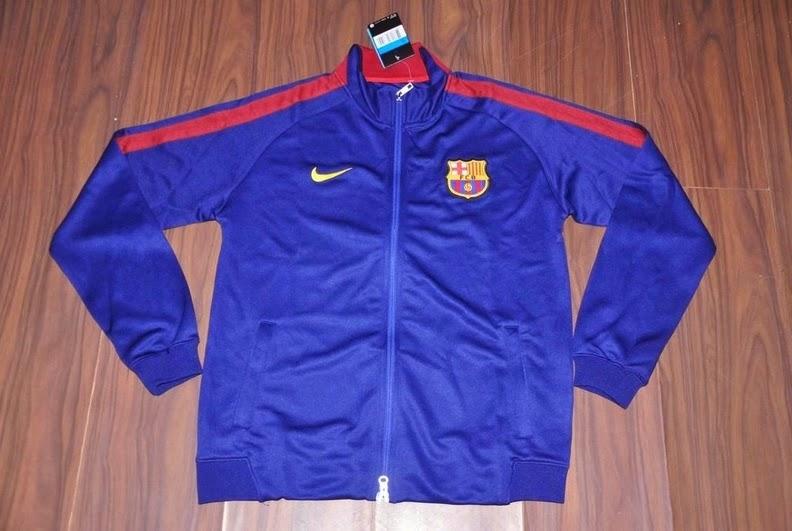 Produk Jaket Impor Training Bola Barcelona N98 Biru 14 - 15