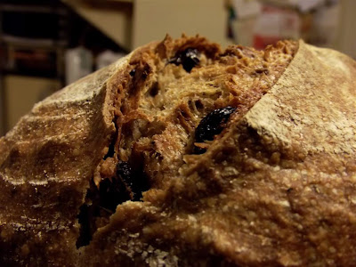 Pan ecológico de trigo y espelta con nueces y pasas