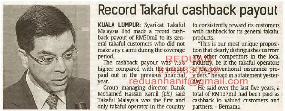 2013 refund kepada pencarum RM30 juta. 5 tahun RM137 juta. Anda masih memilih yang lain? Rugi, rugi.