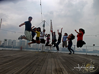 Jumpt shot at the poof deck
