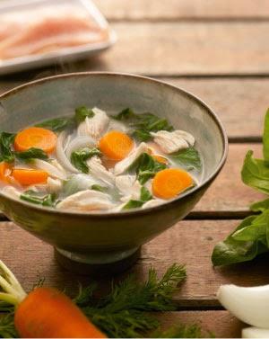 Sopa de legumes com frango light
