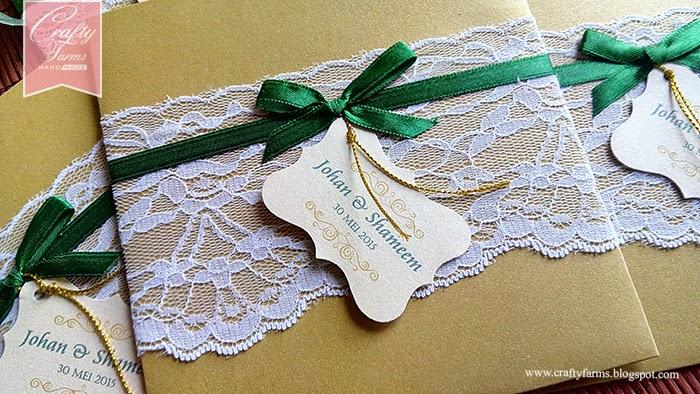 Wedding Card Malaysia | Crafty Farms Handmade : Emerald Green and ...