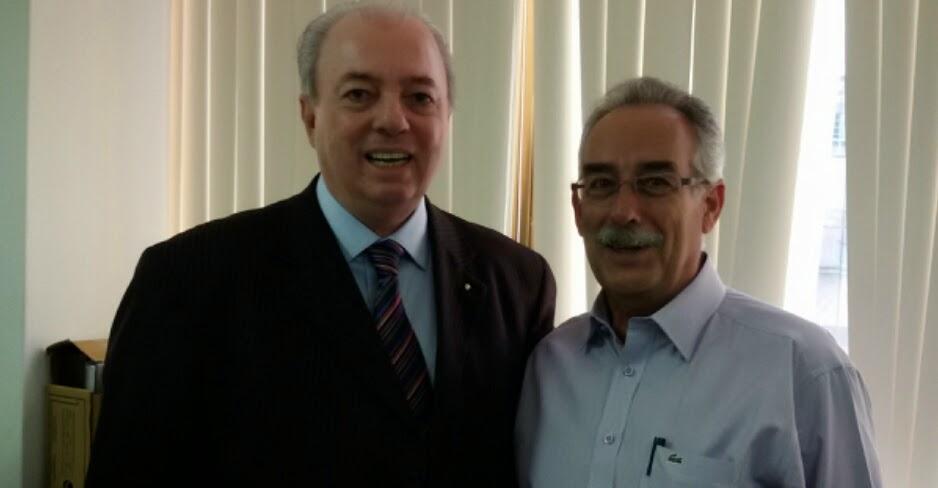Secretário estadual de Turismo, Nilo Sérgio Félix, com o subsecretário de Turismo de Teresópolis, Carlos Tucunduva