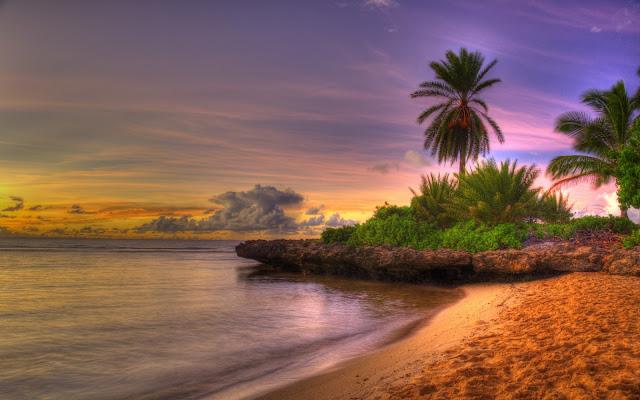 Bello Atardecer HDR Imagenes de Hermosos Paisajes HDR de Playas