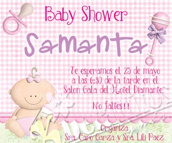 Detallitos Y Más Invitaciones Baby Shower Niña