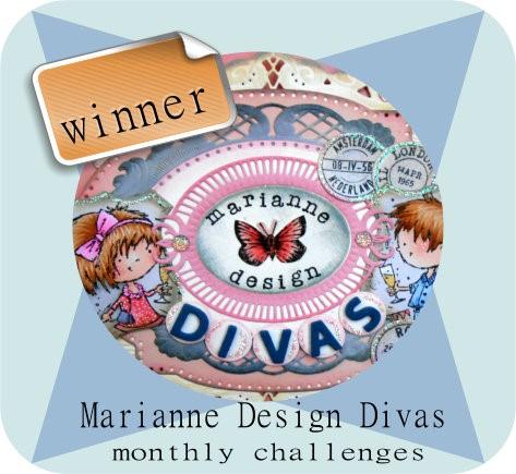Winaar op Marianne Design Diva's