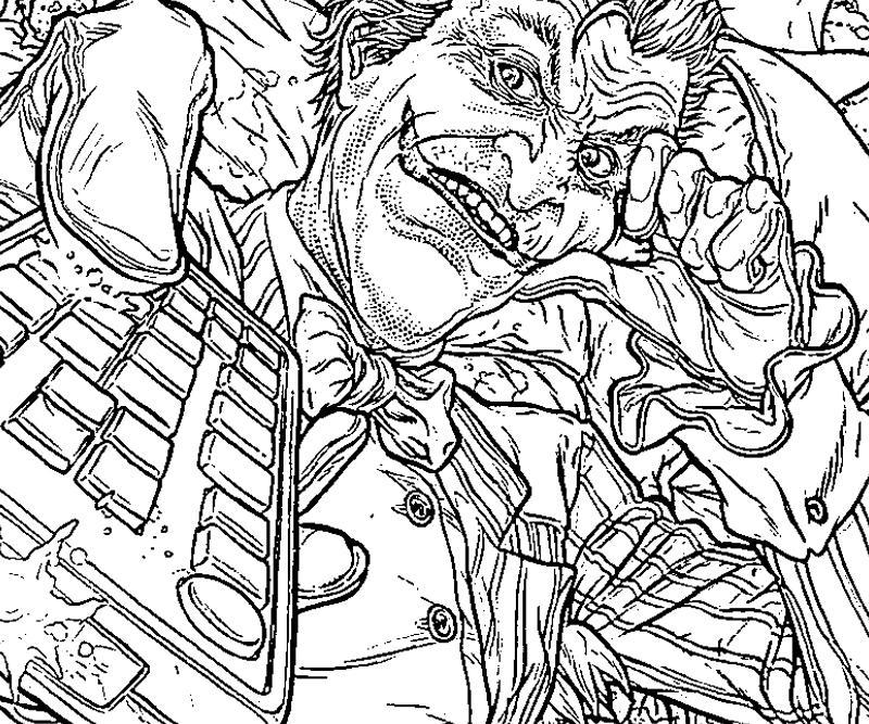 Printable Coloring Pages Joker Free The Arkham City