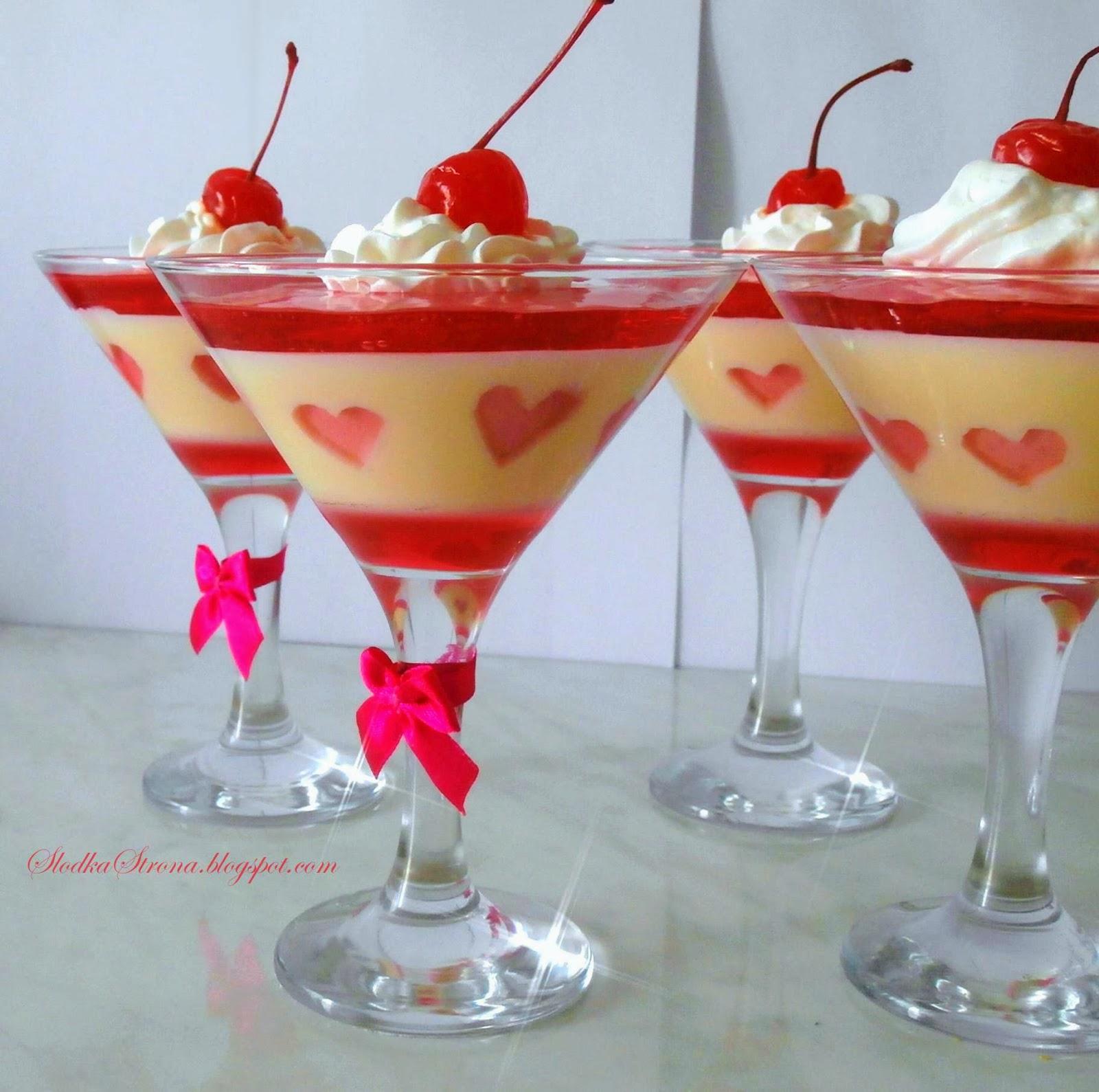 Deser z Mlekiem Skondensowanym na Walentynki - Przepis - Słodka Strona