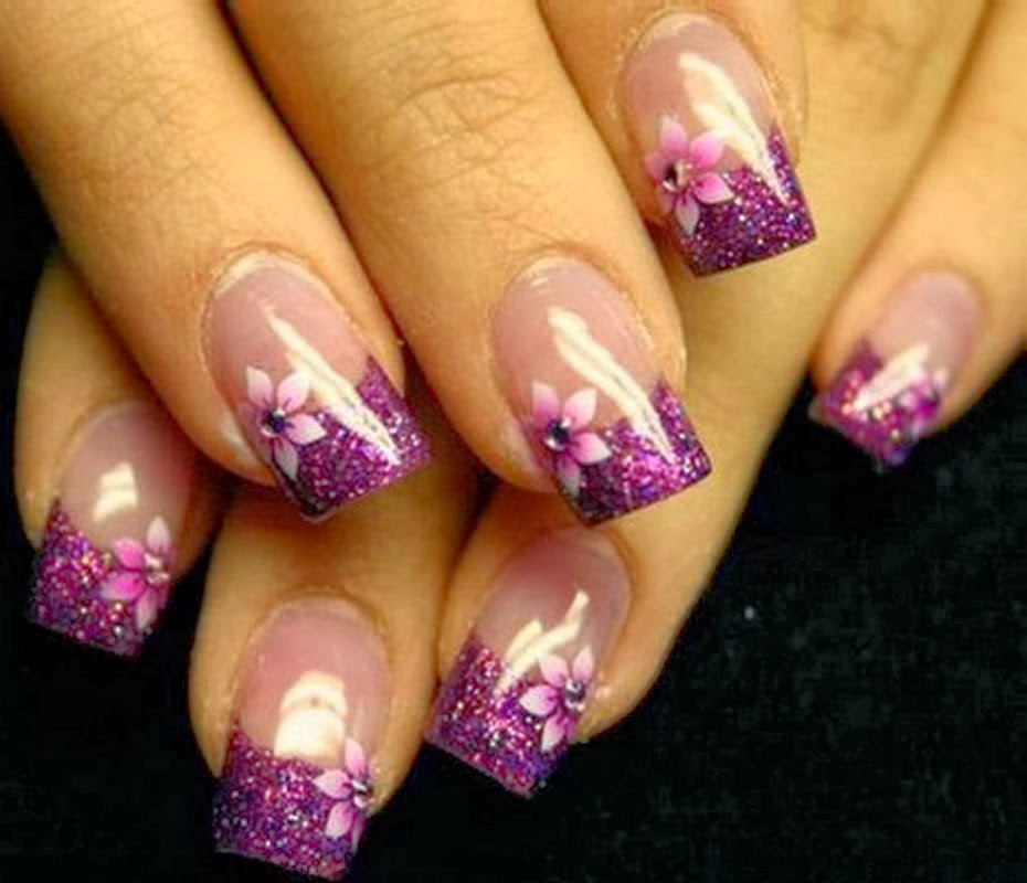 Purple Gel Nail Designs