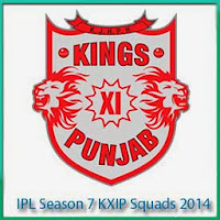 IPL Season 7 King xi Punjab Squads Profile and Squads Logo King xi Punjab IPL 7 Scorecards