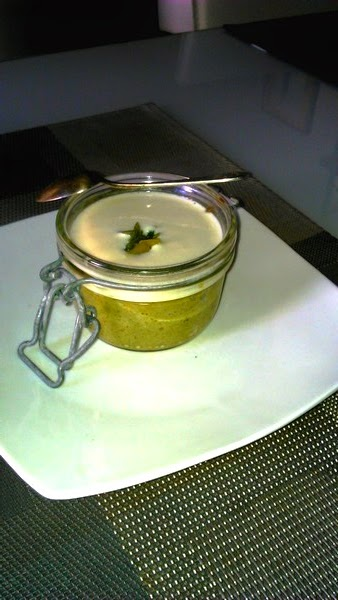 Flans vert de poireau parmesan