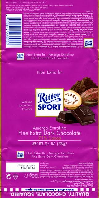 tablette de chocolat noir dégustation ritter sport noir amargo extrafino ecuador 71