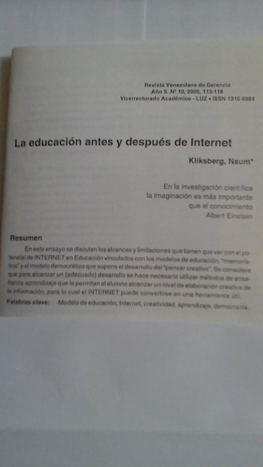 36 - REVISTA DE LA UNIVERSIDAD DE ZULIA, VENEZUELA, 4//2000. PUBLICACIÓN DEL ARTÍCULO DE