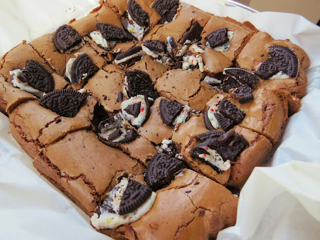 cookie stuffed brownies