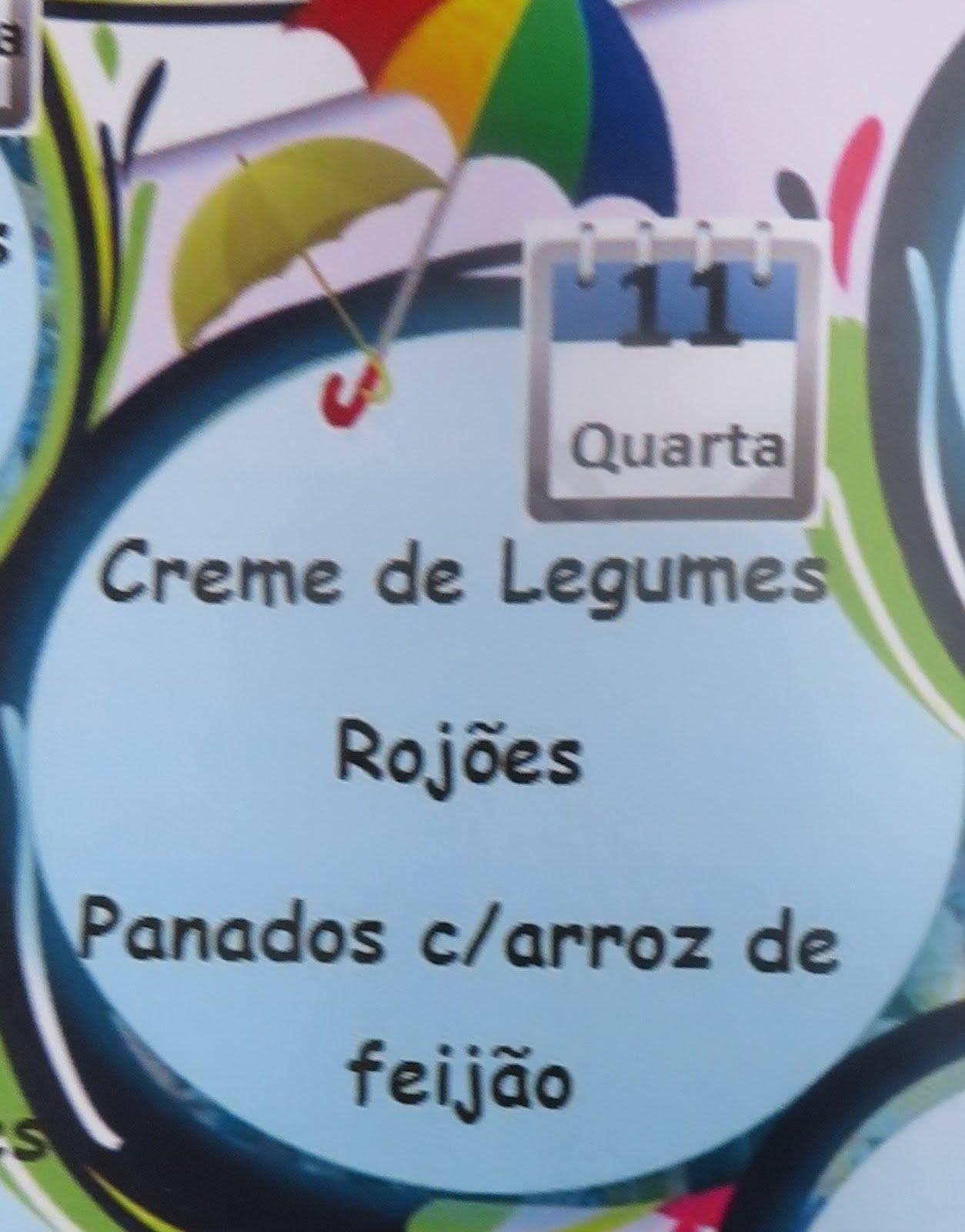 ARCOR com rojões e panados com arroz de feijão no Agitágueda de hoje!