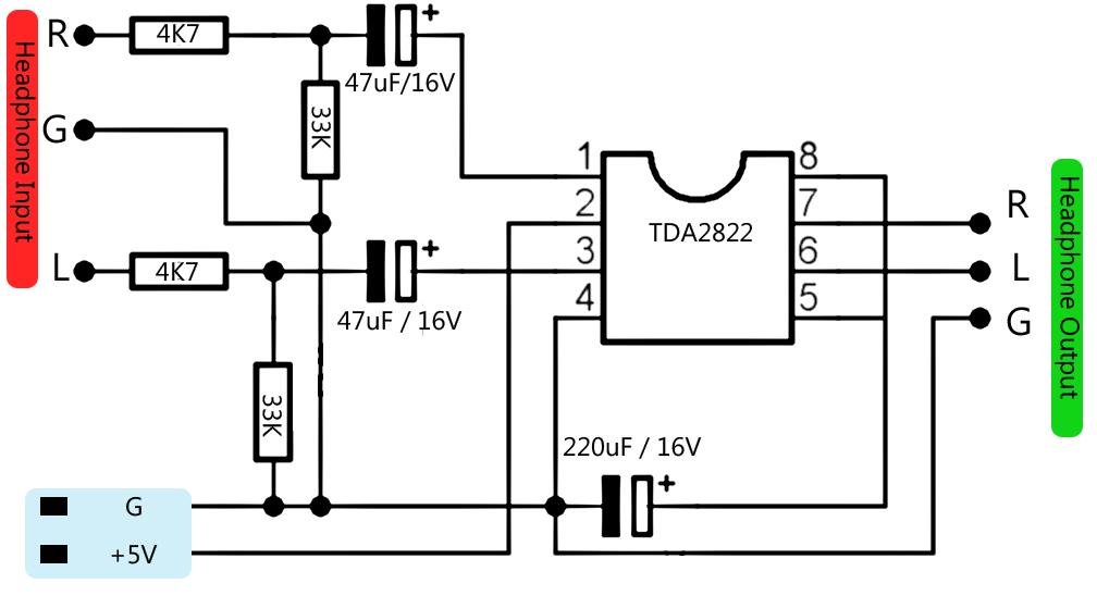 amplifier for paralelling headphone subwoofer bass amplifier