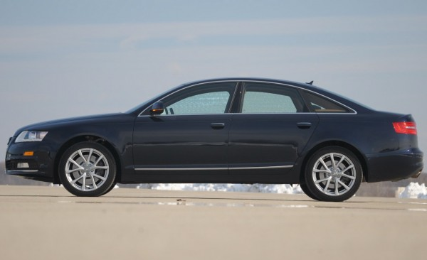 Closer side view of 2012 Audi A6