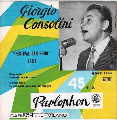 Sanremo 1957 - Giorgio Consolini - Usignolo