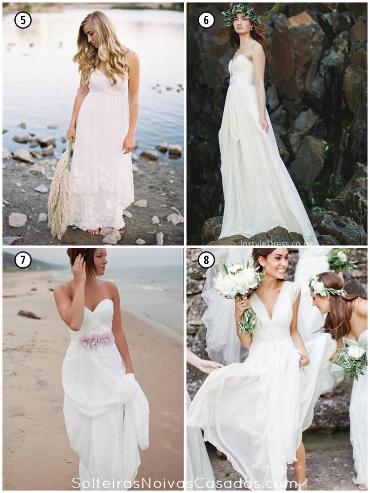 8 Vestidos De Noiva Para Casamento Na Praia Solteiras