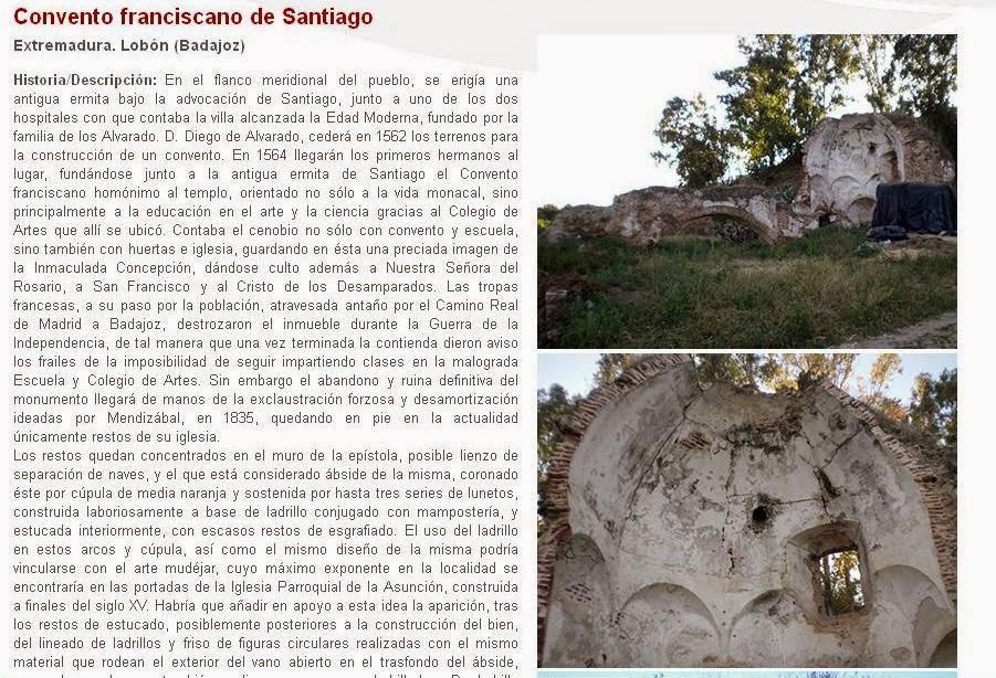 Lista Roja del Patrimonio: Convento franciscano de Santiago (Lobón)