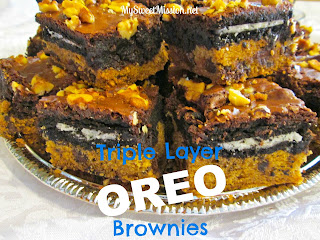 Triple Layer Oreo Brownies at MySweetMission.net