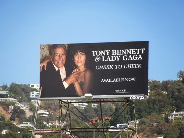 Tony Bennett Lady Gaga Cheek to Cheek billboard