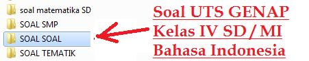 35 Soal UTS Bahasa Indonesia Kelas 4 SD/MI Semester 2/Genap KTSP TP.2015/2016