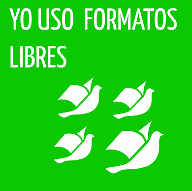 Usa formatos libres