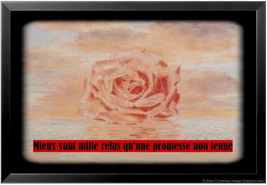 Une citation promesse pas tenue en image