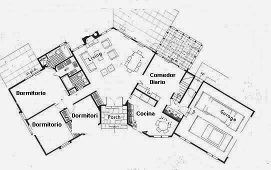 Planos de casas for Jardin 60 metros cuadrados