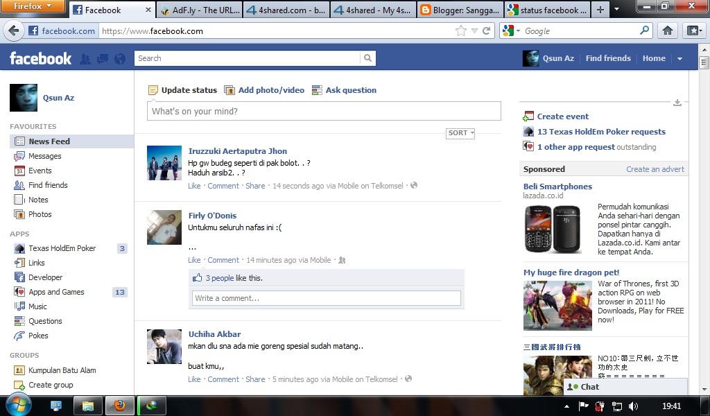 Status Facebook Lucu dan Komplit