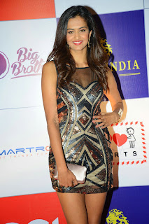 Actress Shubhra Ayyappa  Pictures in Short Dress at CCL Charity Dinner  15.JPG