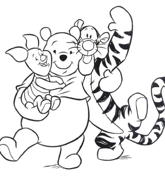 Baby winnie the pooh and tigger coloring pages for My friends tigger and pooh coloring pages