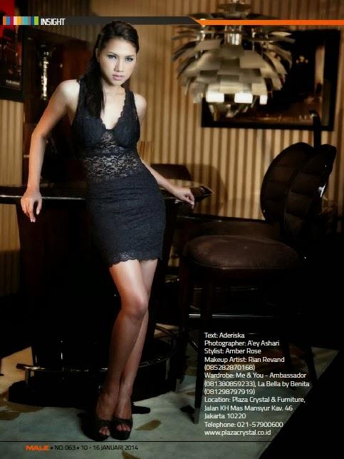 Magazine Photoshoot : Deacy Widya Hayer Photoshoot For Male Magazine January 2014 Issue