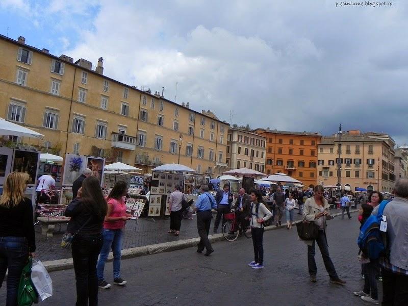 Putina ploaie in Piazza Navona