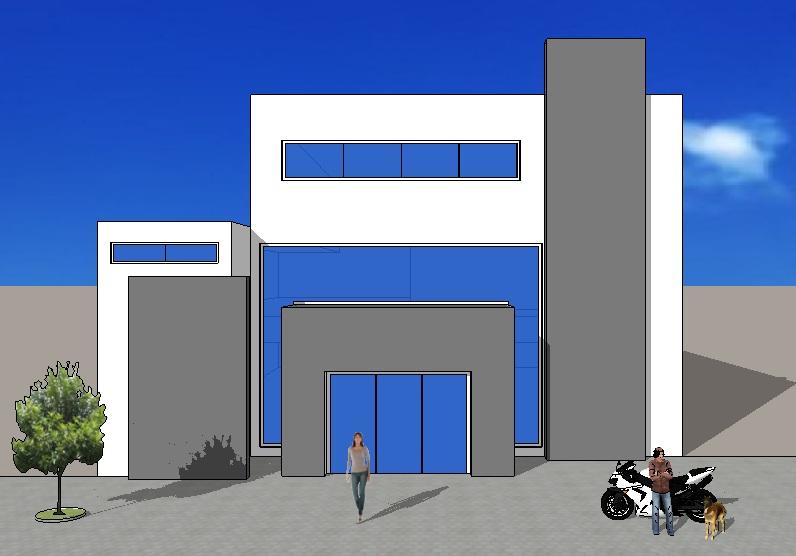 Fachadas y casas casas sencillas y modernas for Modelos de oficinas en casa