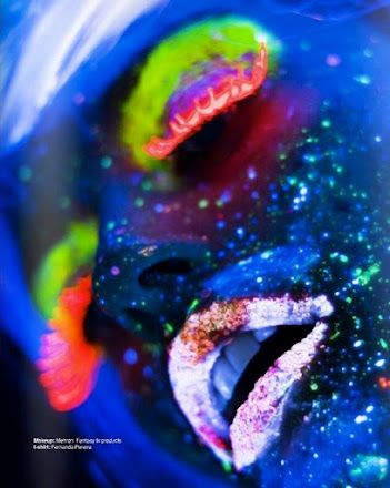 Hot Black Light Makeup