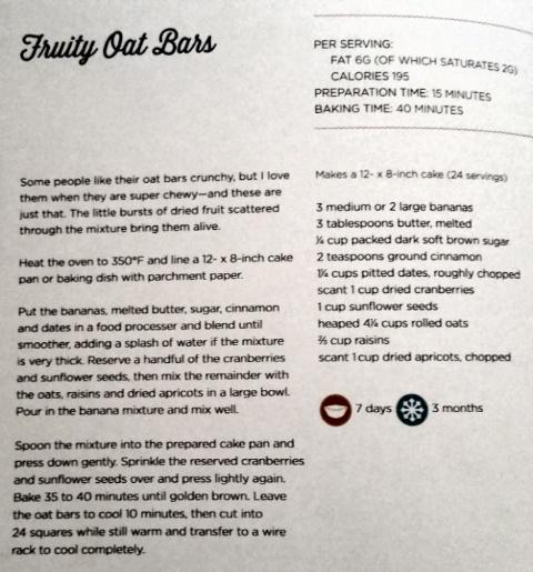 Fruity Oat Bars recipe