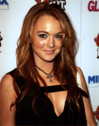 lindsay lohan red hair-5