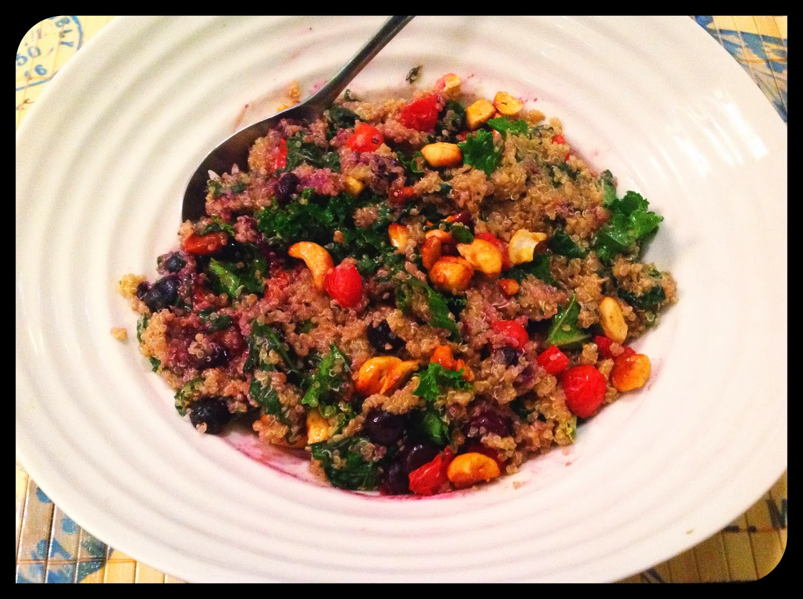 Kale Salad with Quinoa, Tangerines and Roasted Almonds recipes